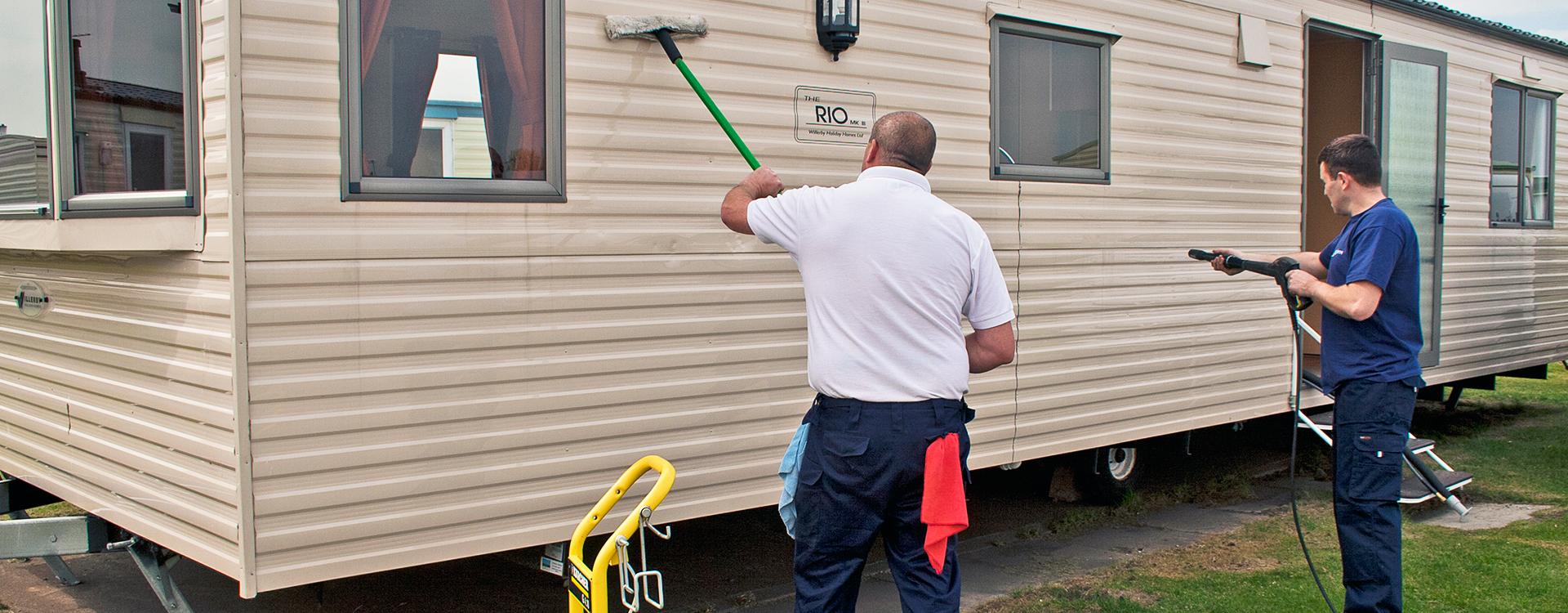 Caravan cleaning image